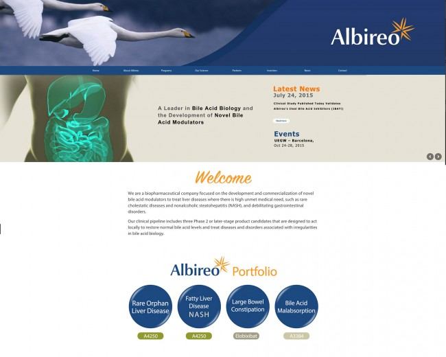 Albireo Pharma | Website